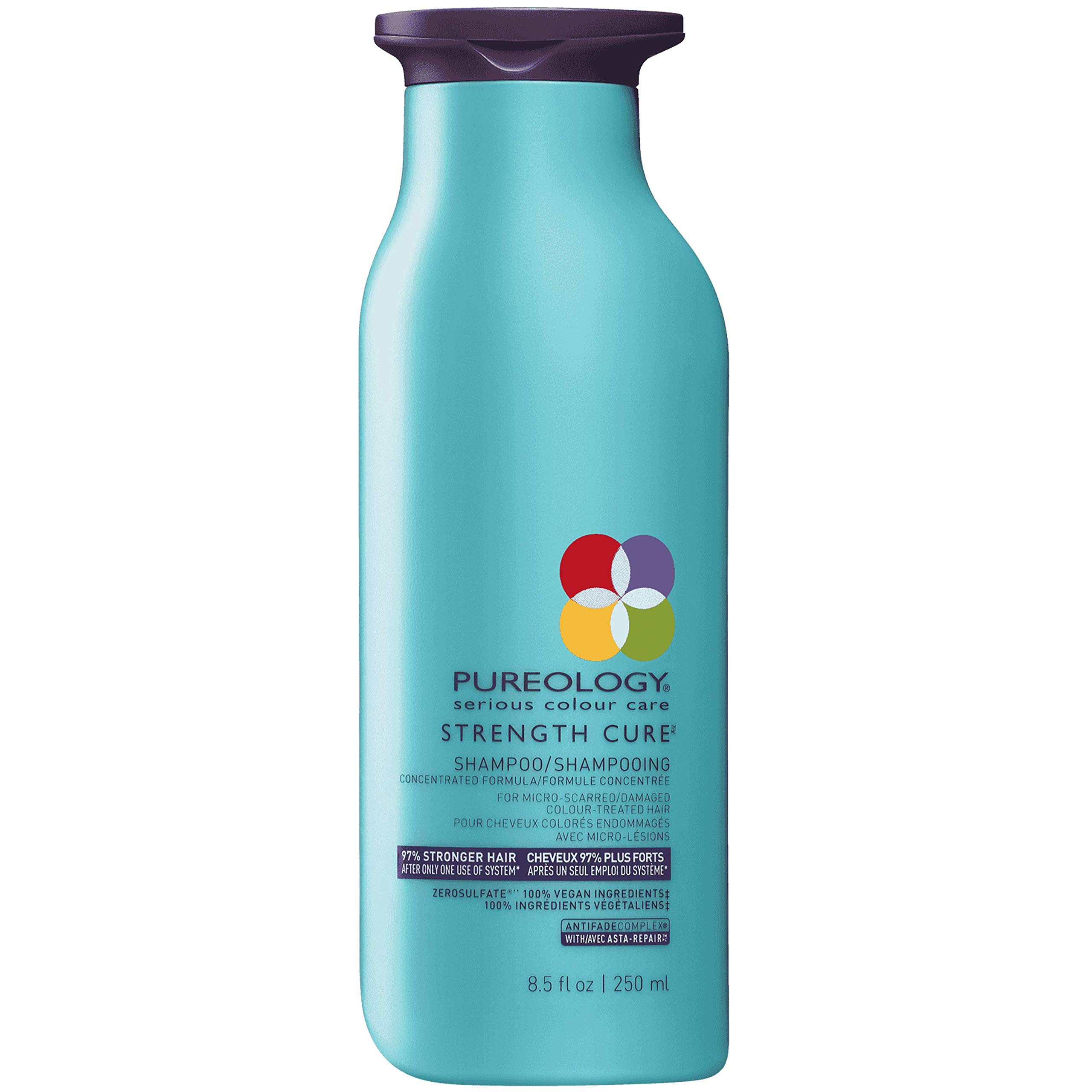 Pureology Strength Cure Sulfate Free Shampoo for Damaged Hair, 8.5 oz. by Pureology