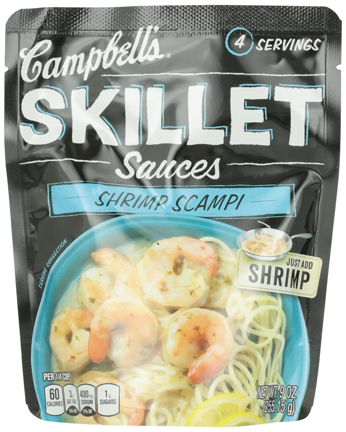 Amazon.com : Campbell\'s Skillet Sauces, Shrimp Scampi with White ...