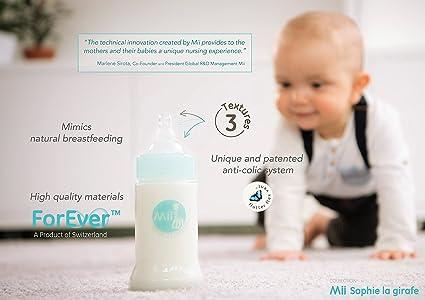 Amazon.com : Vulli - Mii - Sophie la girafe Infant Feeding Bottle - Glass - 4oz : Baby