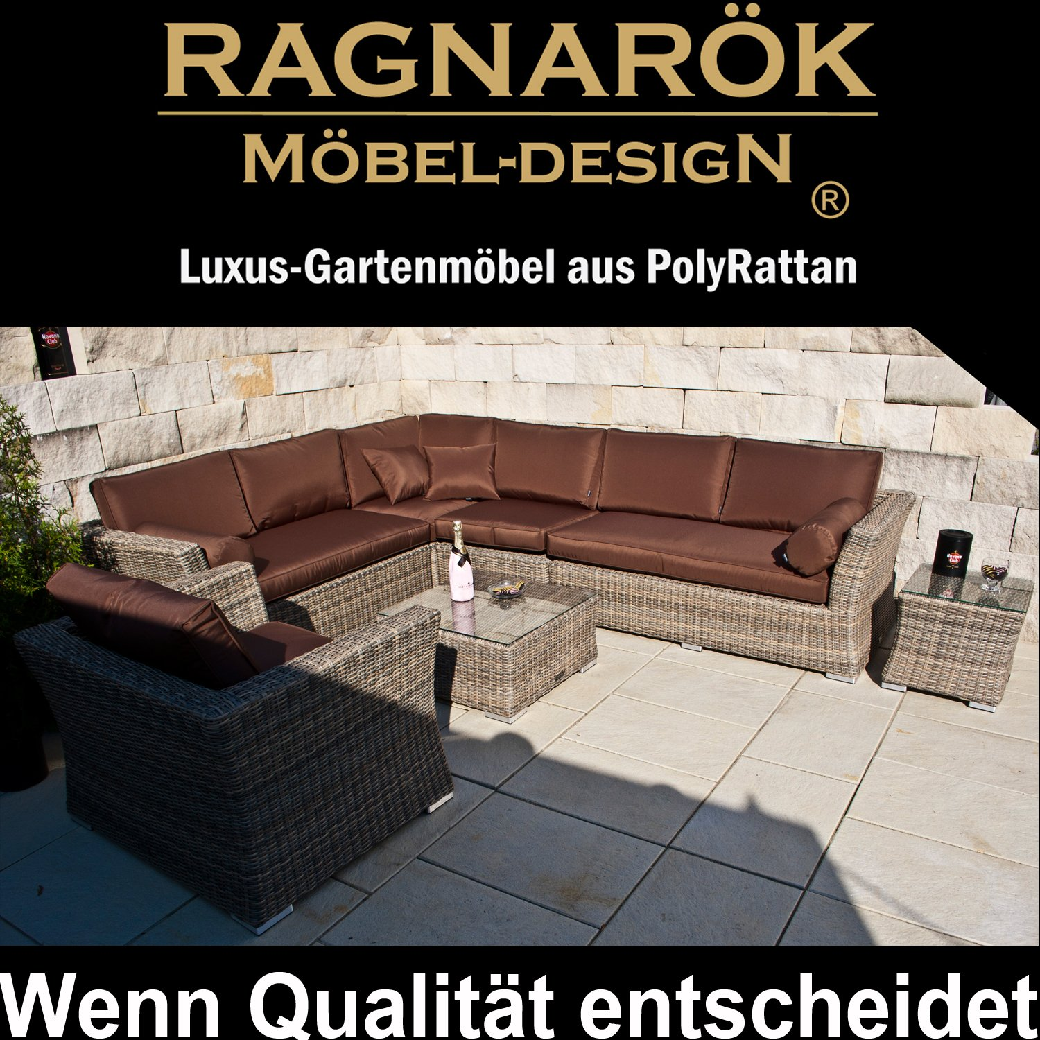 Amazon.de: PolyRattan Lounge DEUTSCHE MARKE - EIGNENE PRODUKTION ...
