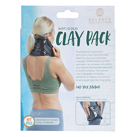 Amazon.com : Balance Collection Hot/Cold Clay Pack, Black : Sports & Outdoors