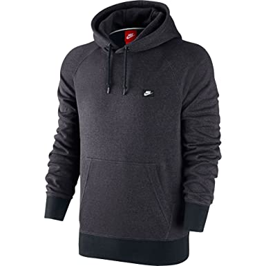 Nike AW77 Ft Shoebox Men's Hoodie Anthracite/Black/Heather 678564-060,XL