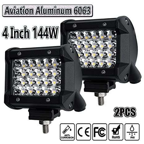 Amazon led light pods4inch 2pcs 144w led pod light spot beam led light pods4inch 2pcs 144w led pod light spot beam work light bar led aloadofball Choice Image