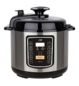 SPT EPC-13C 6.5 Qt. Electric Stainless Steel Pressure Cooker with Quick Release, Quart