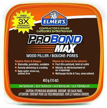Elmer\'s ProBond Max Stainable Wood Filler, Interior/Exterior, 453G ...