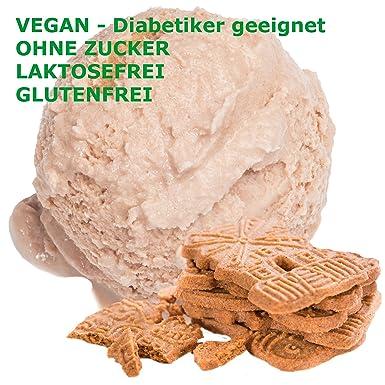 Spekulatius sabor hielo crema en polvo vegan - Azúcar - LACTOSA - GLUTEN - bajo en grasa crema, leche suave ...