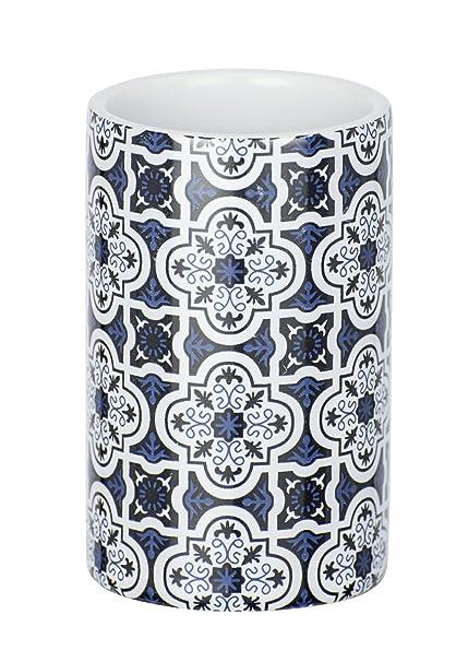 Wenko cerámica Portacepillos Azul, Murcia, Azul Oscuro, 6.5 x 6.5 x ...