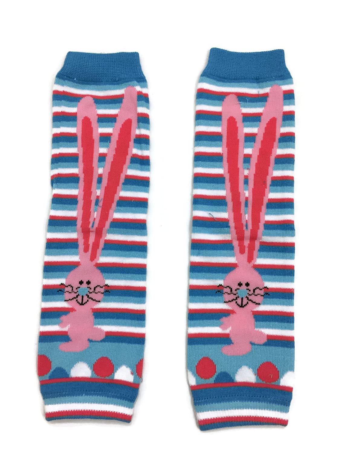 Rush Dance Long Ears Blue Easter Bunny Cute Colorful Baby//Toddler Leg Warmers