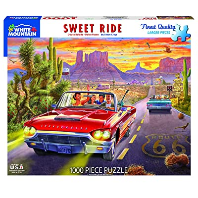 White Mountain Puzzles Sweet Ride - 1000 Piece Jigsaw Puzzle: Toys & Games