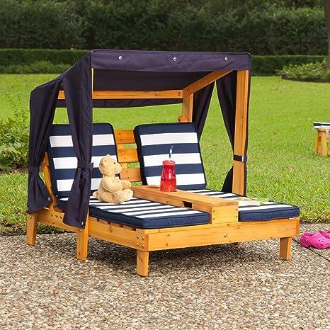 KidKraft- Tumbona de jardín doble para niños, de madera, con ...