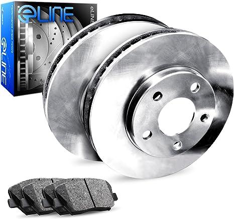 Ceramic Brake Pads Rear Set eLine Plain Brake Rotors