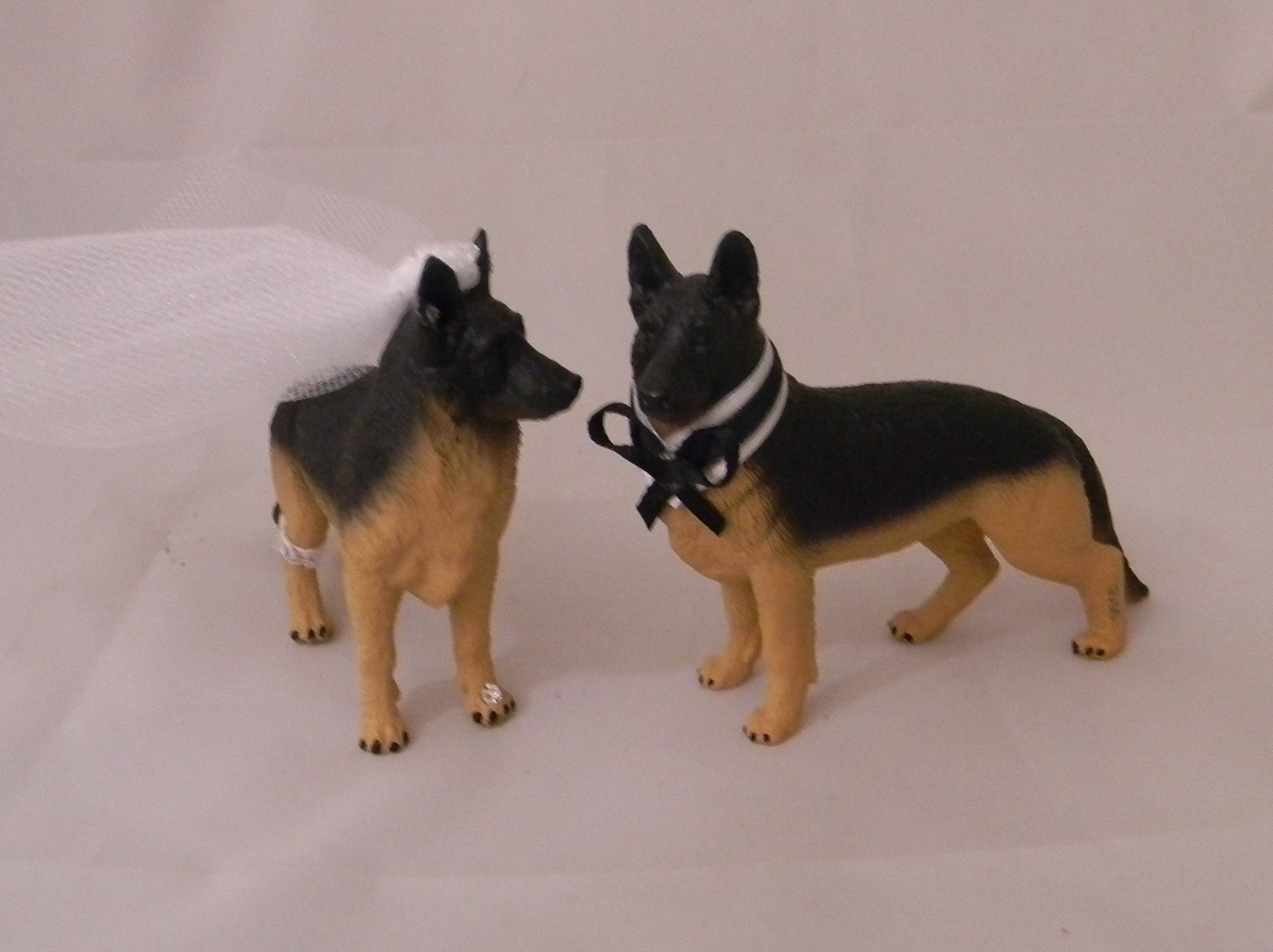 Wedding Reception Police German Shepard Dogs Pet Party Cake Topper