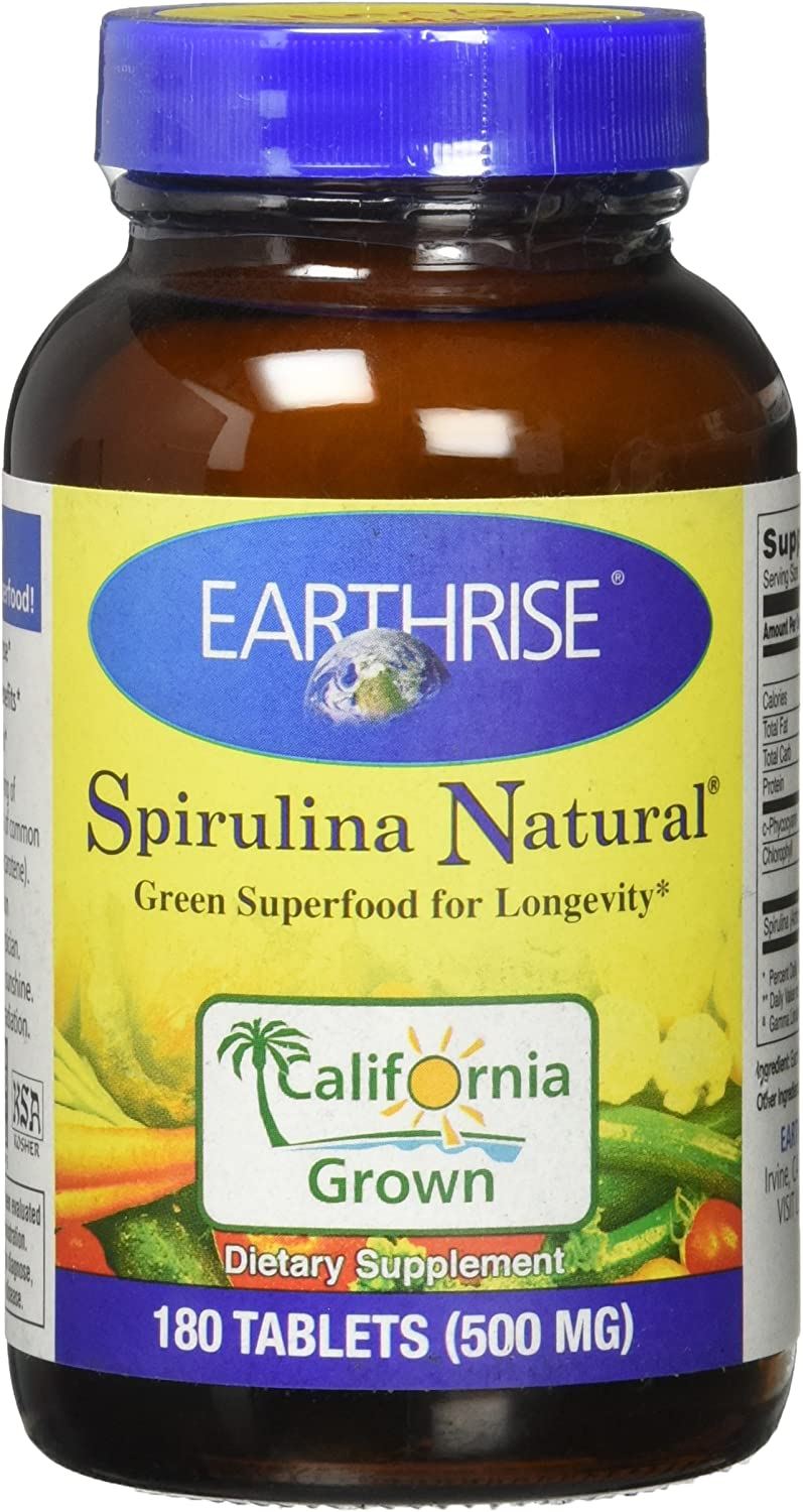 Earthrise Spirulina Natural, 180 Tablets