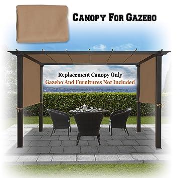 BenefitUSA 18u0027 x 8.3u0027 Universal Replacement Canopy Top Cover for Pergola Structure (Tan) Amazon.co.uk Garden u0026 Outdoors & BenefitUSA 18u0027 x 8.3u0027 Universal Replacement Canopy Top Cover for ...