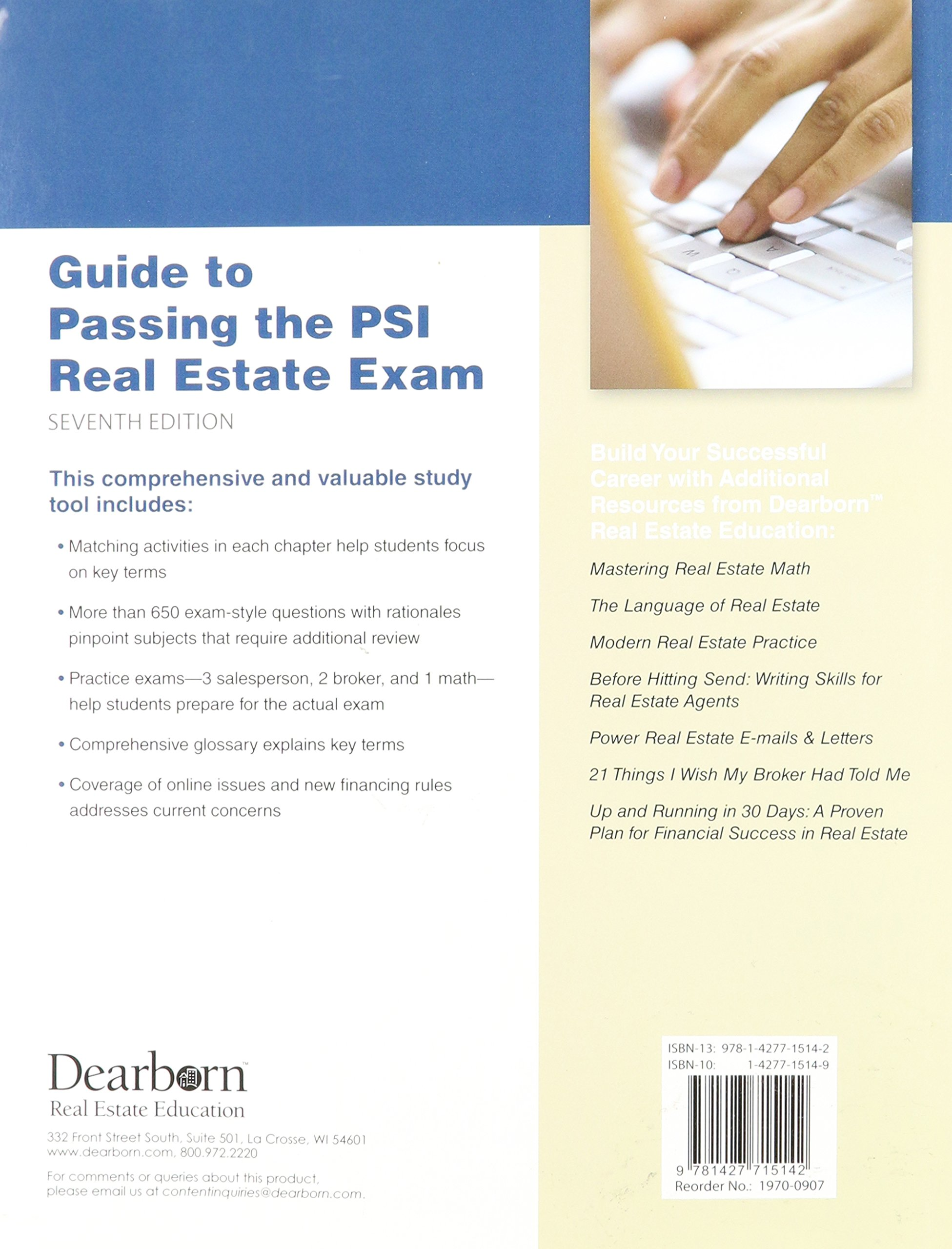 Guide to Passing the PSI Real Estate Exam, 7th Edition: Lawrence Sager:  9781427715142: Amazon.com: Books
