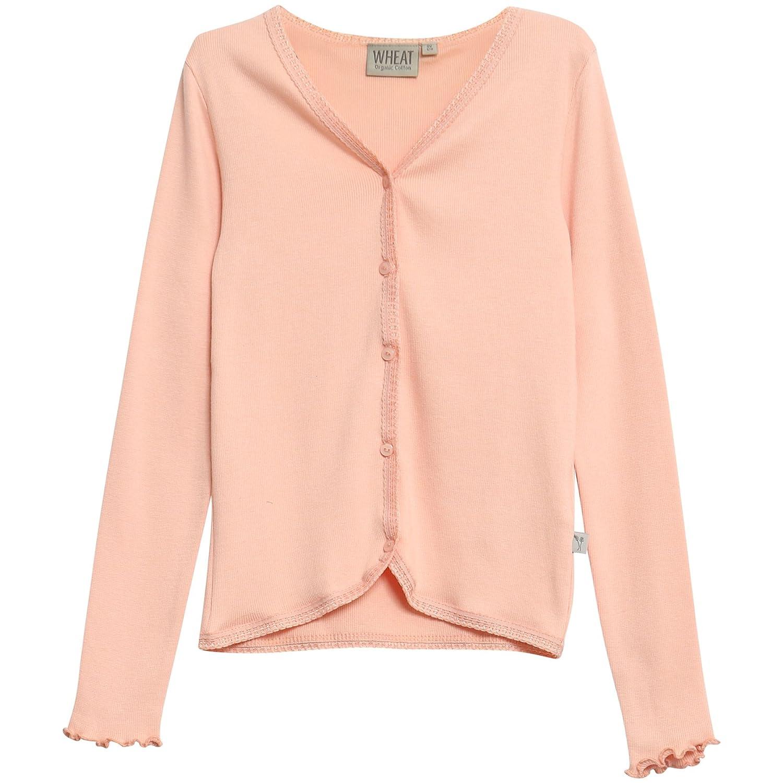 Wheat Strickjacke Lace Mädchen, Cardigan Bambina Rosa (Coral Pink 2065) 5 Anni 0152-07