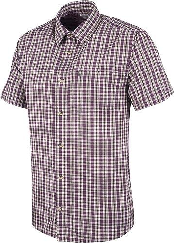 para Viajar Camisa Informal Camisa Ligera de Verano para Mujer Caminar Mountain Warehouse Camisa de algod/ón Holiday para Mujer Top de Manga Corta para Mujer