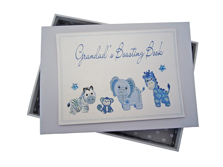 White Cotton Cards Grandad's Boasting Book Photo Album (Tiny, Blue) GDTB