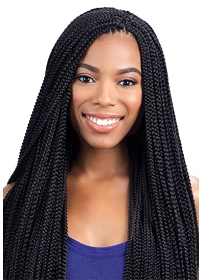 Amazoncom Freetress Synthetic Hair Crochet Braids Box Braid Small