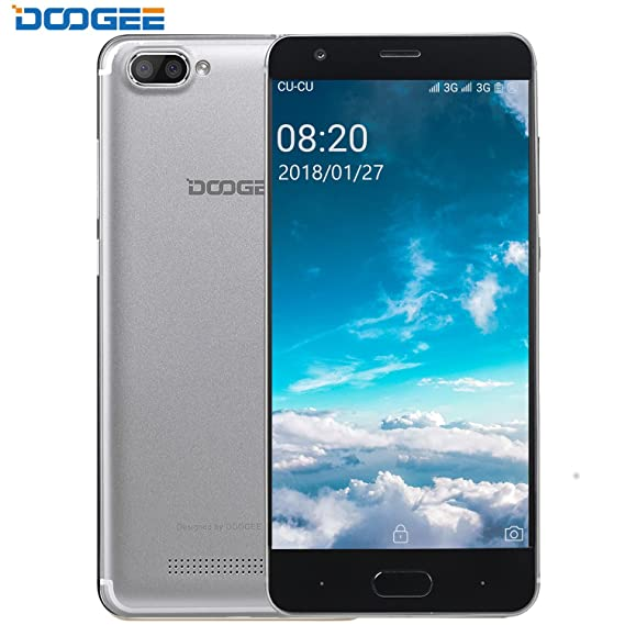 Mobile Phones Unlocked, DOOGEE X20 Dual SIM Smartphones, 3G 5 0 Inch HD  smart Phone Android 7 0 - MT6580-16 GB Rom - Dual Rear Cameras 5 0MP +  5 0MP