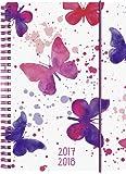 Brunnen 1072985048 Schülerkalender Schmetterling (1 Woche in 2 Seiten, August 2017 bis Juli 2018)