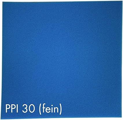 Aquaristik Paradies Filterschaum Filtermatte Blau 50 X 50 X 3 Cm Fein Ppi 30 Garten