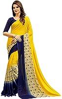 Navya Women's Chiffon Saree With Blouse Piece (Nav326_Multi-Coloured)