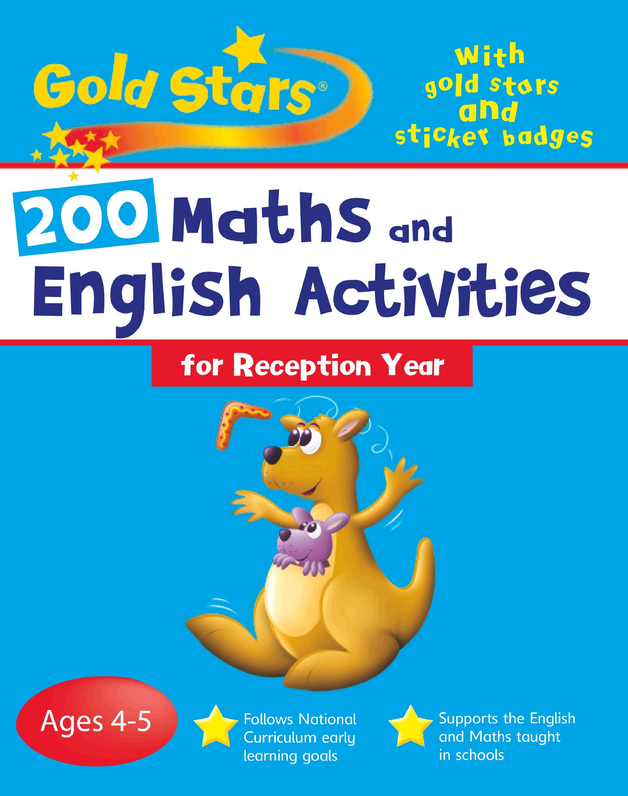 Buy 200 Maths and English Activities: Reception (Gold Stars Bumper ...