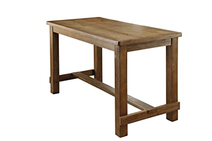 HOMES Inside Out IDF 3324PT Greggory Natural Tone Counter Height Table