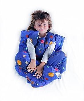 Norkid ORIGINAL. Sacos de dormir infantiles con piernas. Talla 3 años. Relleno GRUESO, Modelo PLANETAS.: Amazon.es: Hogar