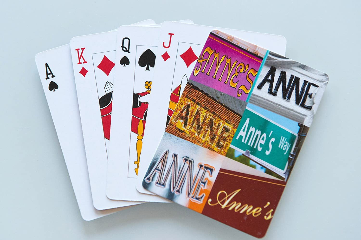ANNE Personalized Playing Cards featuring photos of actual signs SignYourName PC-ANNEX