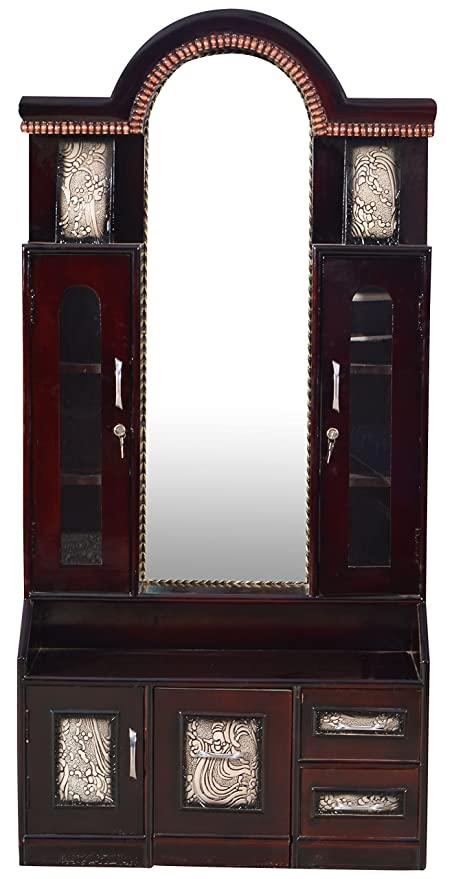 premium selection abade 07726 Jalaram Furniture Teak Dressing Table (Brown, Jf17): Amazon ...
