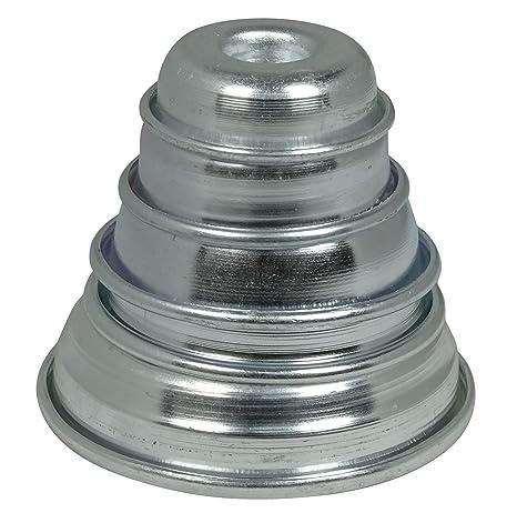 Aluminio Mini Anillo De La Torta Del Molde Del Molde De Hornear Conjunto De 5 Piezas