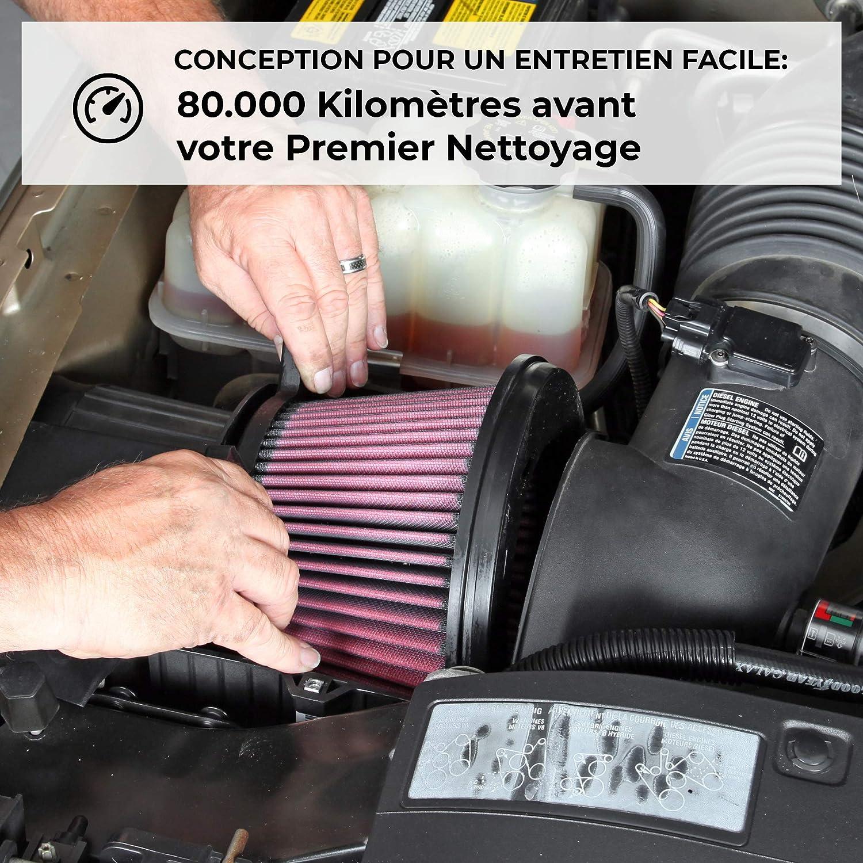 K/&N RU-5111 Voitures Moto Filtre Universel en Caoutchouc