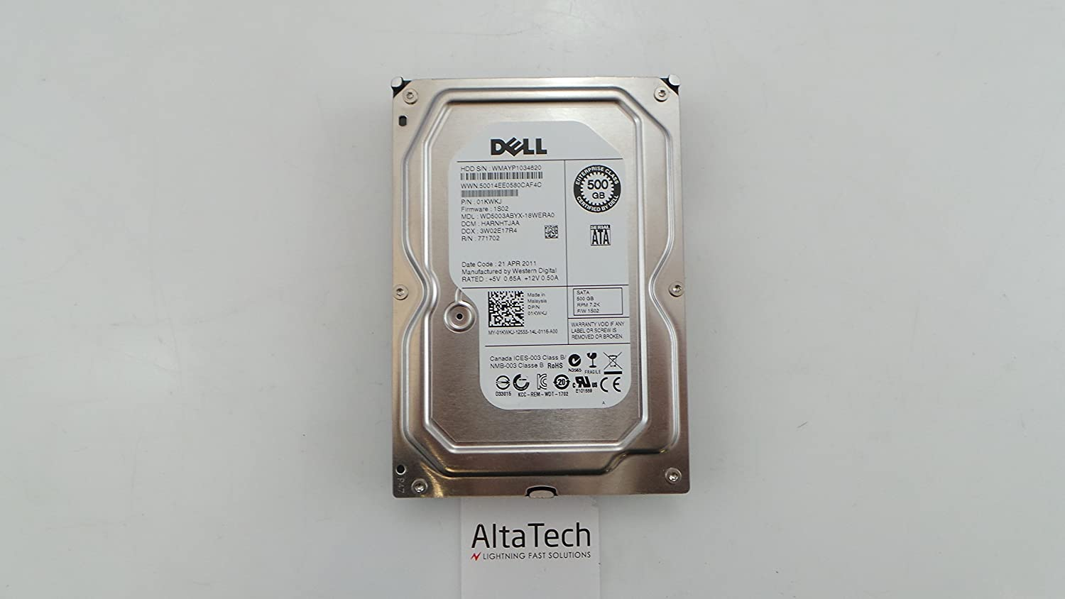 DELL 1KWKJ Dell 500Gb SATA 7.2k 3.5 Hard Drive