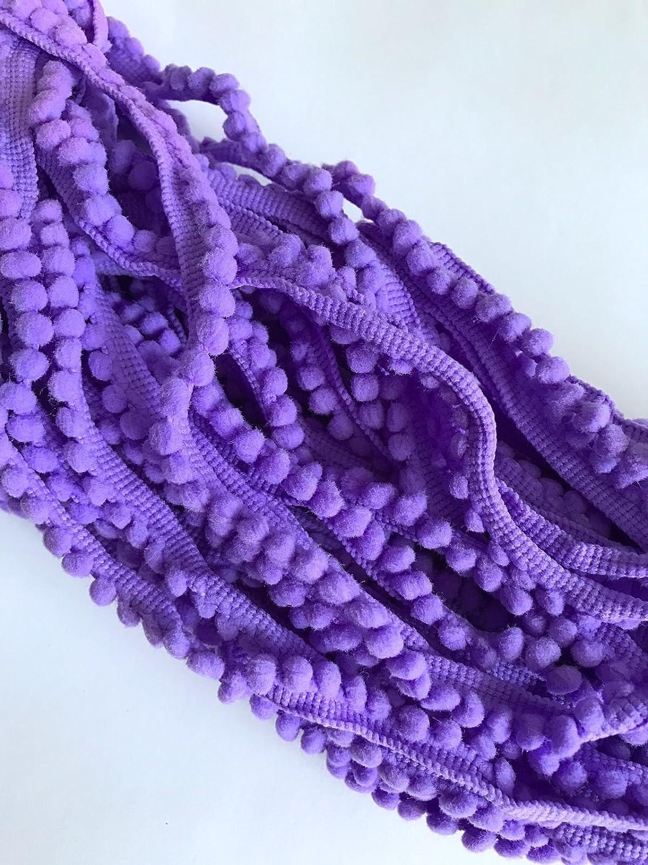 Amazon 20 Yds Purple Pompom Pom Poms Trims Edging Tassel Trim
