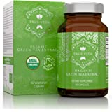 Organic Green Tea Extract Capsules – USDA Organic Certified   60 Green Tea Pills   EGCG Green Tea Extract   Green Tea…