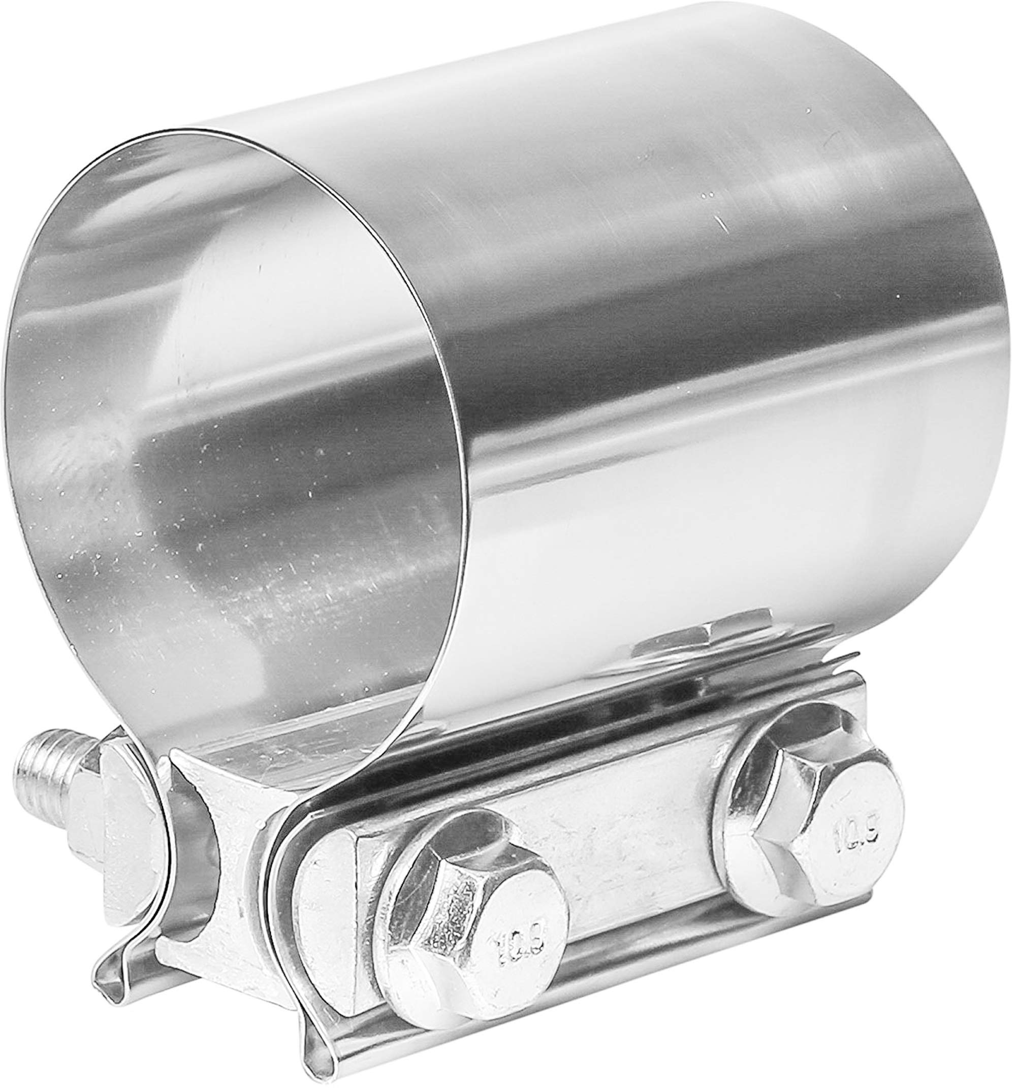 TOTALFLOW TF-JB61 Premium Quality 304 Stainless Steel Butt Joint Exhaust Muffler Clamp Band 3.5''