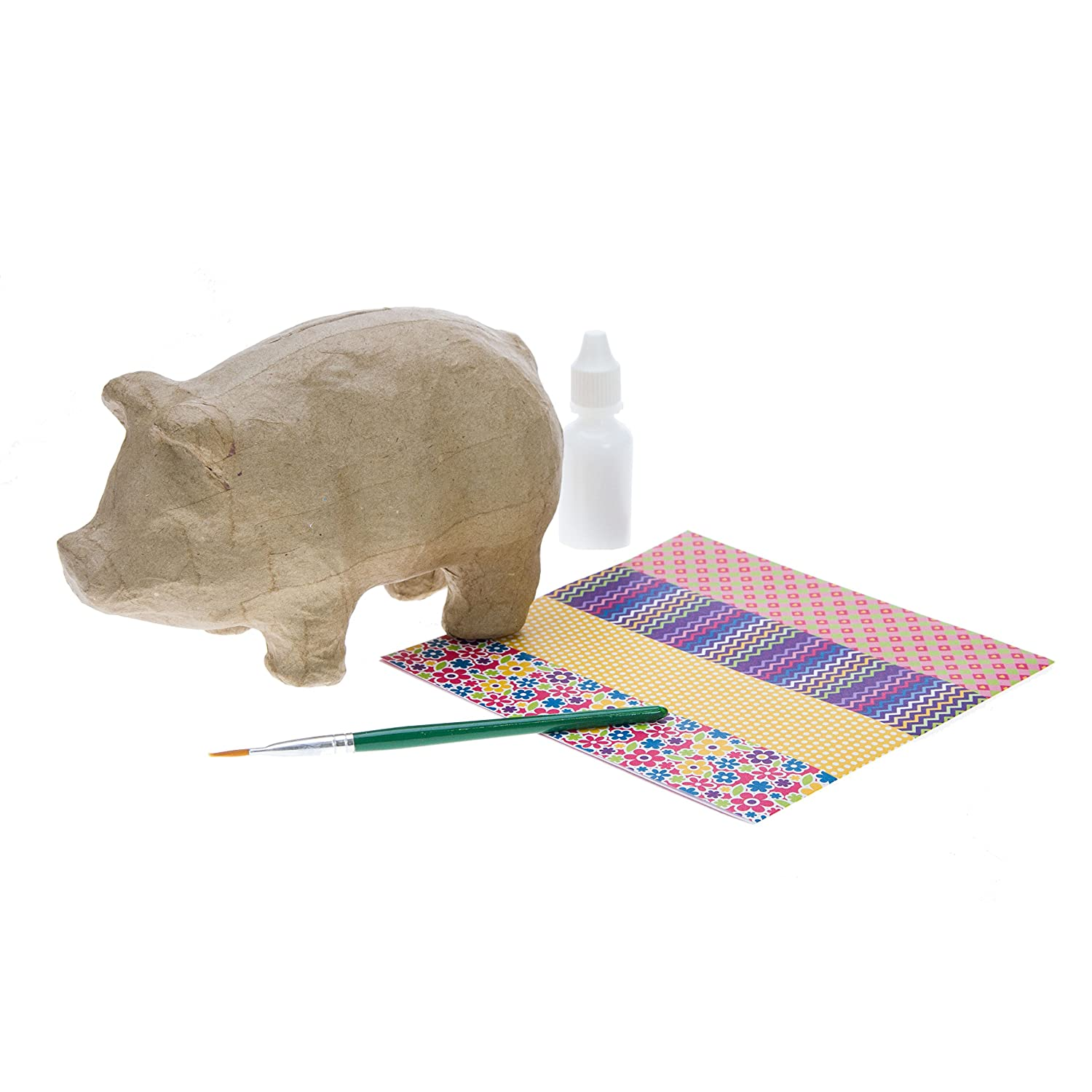 Decoupage Piggy Bank Kit House of Crafts