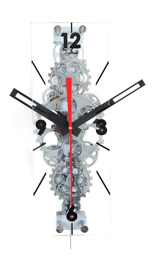 Amazon.com: Arce de large Moving Gear reloj de pared ...