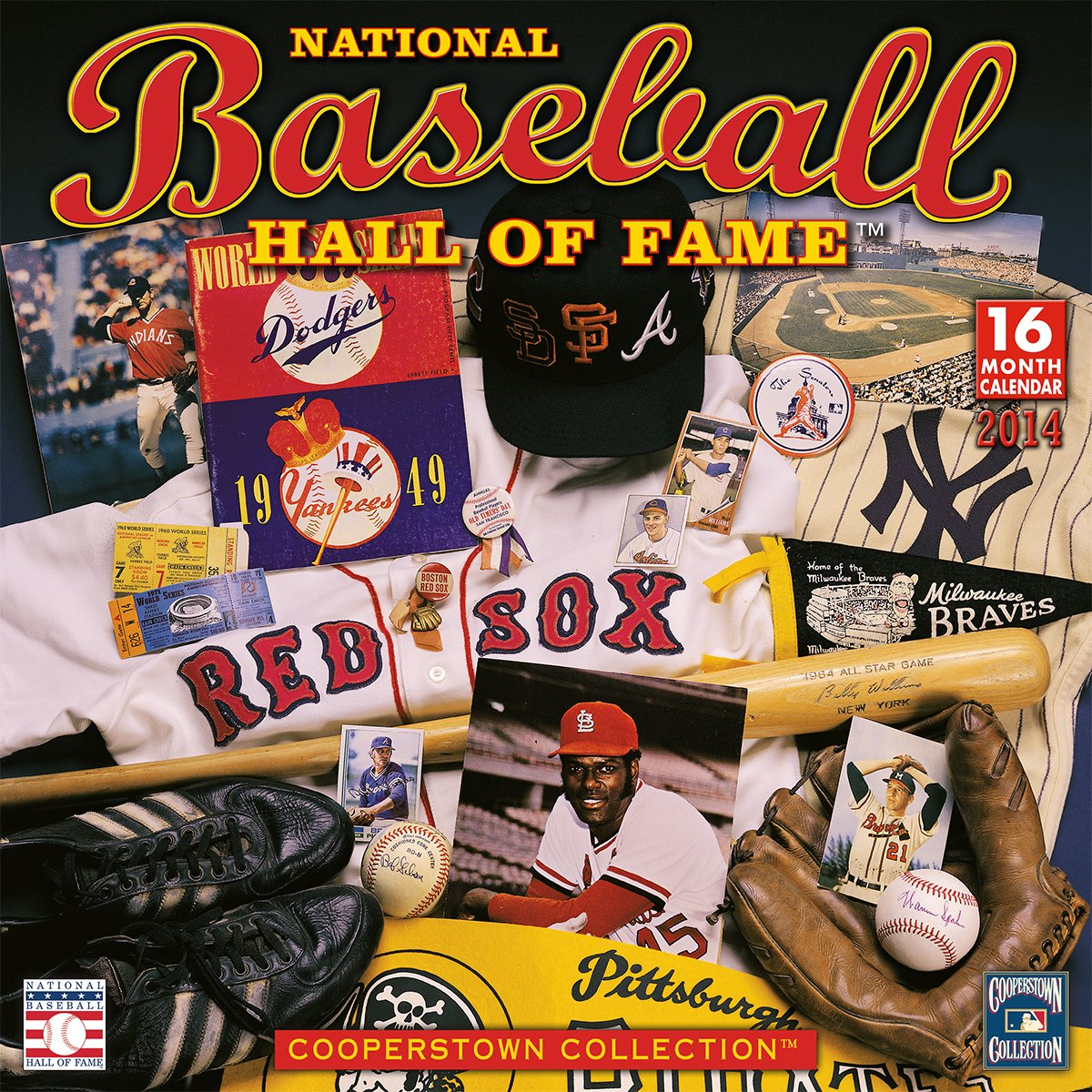 National Baseball Hall of Fame 2014 Wall (calendar)