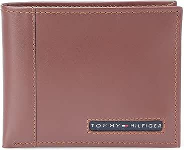 Tommy Hilfiger Cambridge Billfold Wallet for Men - Leather, Tan