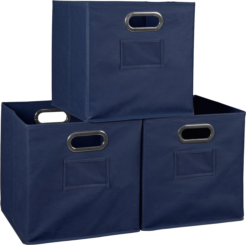 Niche Set of 3 Cubo Foldable Fabric Bins- Blue