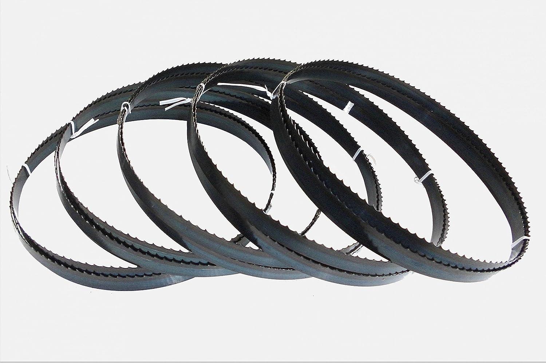 5 x Sägebänder Sägeband 2100 x 8 x 0,65 mm 6 ZpZ Holz Scheppach HBS 32 Vario