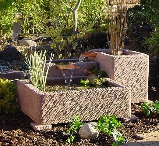Fuente de jardín, fuente Arni, fuente con cascada, obra de ...