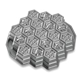 Nordic Ware Honeycomb Pull-Apart Dessert Pan, Silver