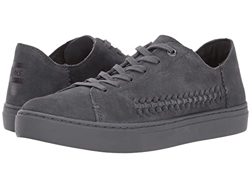 b49660649 TOMS Women s Lenox Sneaker (Forged Iron Grey Monochrome Deconstructed Suede  Woven Panel