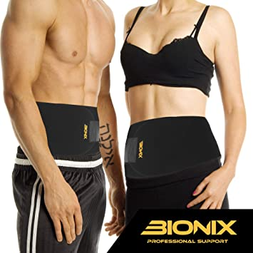 Waist Trainer Trimmer – Accelerates Weight Loss, Fat Burner, Abs Toning, Back Support, Sauna Slimming Belt for Men & Women – Gym Fitness Stomach Sweat