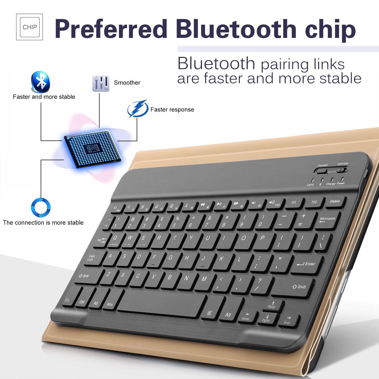 Nero IVSO Huawei MediaPad M3 Lite 10 QWERTY Bluetooth Tastiera Portfolio Detachable Bluetooth Copertura della Tastiera per Huawei MediaPad M3 Lite 10 Tablet