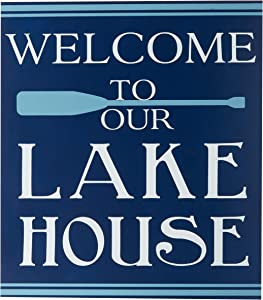 "DEI Lake Sign, 12.5""x14"", Multicolored"